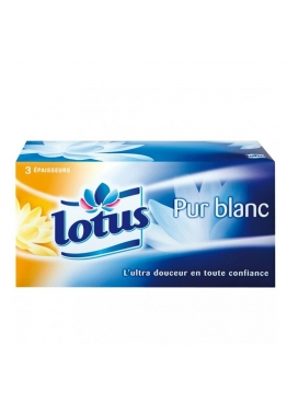 Mouchoirs LOTUS blancs B/110