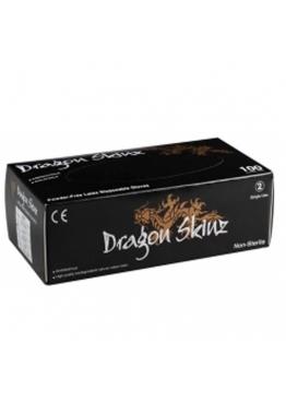 Gant latex noir non poudré texturé DRAGON SKINZ