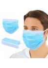Masques de protection à élastiques bleus