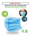Masque chirurgical TYPE 2R NORME EN14683